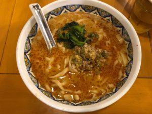 揚州商人の担々麺